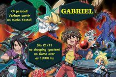 Convite digital personalizado Bakugan 002
