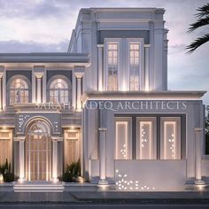 A new meaning for luxury , so where is that? And what's the reason behind that design ? Let's wait and see 5000 m plot soon by Sarah sadeq… Classic House Exterior, Classic House Design, Modern Farmhouse Exterior, Dream House Exterior, Modern House Design, House Outside Design, House Front Design, Villa Design, Facade Design