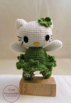 Ballet Dancer Hello Kitty, Hello Kitty Amigurumi, Amigurumi, Dancer Hello Kitty, Crochet Doll, Hello Kitty, Hello Kitty Ornament, Knit Kitty by LuasAccessories on Etsy https://www.etsy.com/listing/260586256/ballet-dancer-hello-kitty-hello-kitty