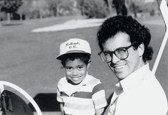 TigerWoods with his first golf coach, Rudy Duran. http://simpleswingthoughts.com/