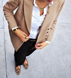 The Classy Cubicle: Leopard Loafers