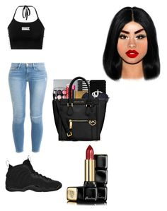 """""""Untitled #79"""" by ohhthatsmaya ❤ liked on Polyvore featuring Frame Denim, NIKE and Guerlain"""