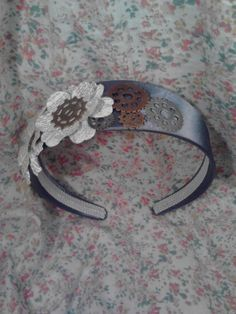 Mechanical Flower Headband by Chixsta on Etsy, $7.50