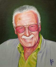 Oil Painting – Stan Lee, Art by Jay Battikha @ http://smartistic.biz