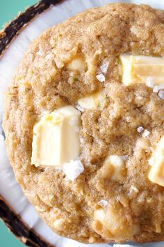 Paradise Cookies are loaded with white chocolate, macadamia nuts, coconut, lime zest, and a sprinkling of sea salt. If there was ever a cooking to eat in paradise, these would be it!