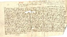 "Pirates have preoccupied Cornwall for many centuries, as this document, from c1513-1521 shows. Written to Pope Leo X from Thomas Colyn, Prior of Tywardreath, it declares the risk the priory was at, as ""Now adays the pirates of the see with oder men of the werres useth them self mor cruelly and mor tyrannosly towardes devoute and holy religyous places then they did of olde tyme.""     ✫ღ⊰n"