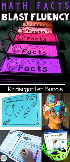 Kindergarten Math Facts Practice Bundle for Fluency - Facts within 5 & 10 Kindergarten Math Activities, Homeschool Math, Fun Math, Teaching Math, Math Class, Maths, Homeschooling, Teaching Ideas, Literacy