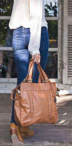 Cute Leather Tote Bag <3
