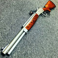 Bighorn armory model 89 carbine in 500 S&W I know putting a red dot on a levergun has to be a sin, but it seems effective and I want to do it