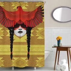 Cardinal Warrior Shower Curtain | Sharp Shirter