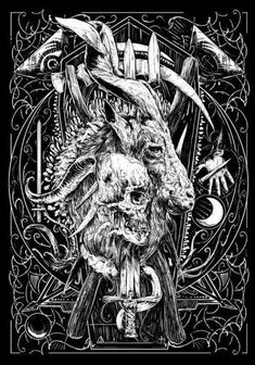 BOOK OF THE DARK WITCH ~ The Demonic Pantheon The true core power of the Workings within Book Of The Dark Witch lies with the Black Goat Satan and the primal Spirits of His Demonic Pantheon, below is. Arte Horror, Horror Art, Fantasy Kunst, Fantasy Art, Cover Art, Satanic Art, Dark Witch, Evil Art, Arte Obscura