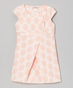 This Pink Floral Button Wrap Dress - Toddler & Girls by Paulinie is perfect! #zulilyfinds