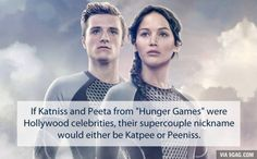 If Katniss and Peeta from Hunger Games were Hollywood celebrities...