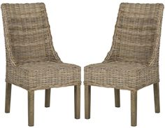 Suncoast Rattan Arm Chair (Set Of 2) Natural Unfinished