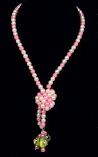 Czech pearl stretch necklace for your furry divas