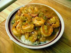 Shrimp Gumbo.  This is one of my mama's recipes.  I took a copy of this when I moved out of the house some 30 years ago.  It's just as good as it was back then.  This one is a must in your recipe box.