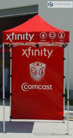 5' by 5' Pop UP Tent for Comcast