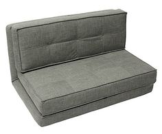 Sof de 2 plazas fifty gris claro largo 160 cm alto for Sofa cama 120 cm ancho