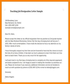 A Resignation Letter Is An Important Component Of Resignation