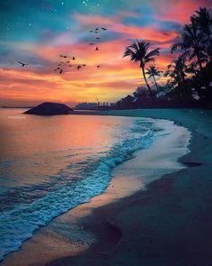 "BEAUTIFUL DESTINATIONS (@beautifuldestinations) no Instagram: ""Beach sunsets (: @dotzsoh)"""