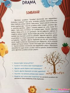 This Pin was discovered by Der Drama Activities, Learn Turkish, Preschool Games, Pre School, Learning, Drama Drama, Kids Crafts, Bee, Spring