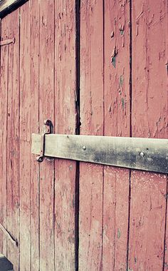 Barn Door love this washed out red