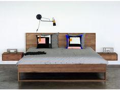 Cama Doble De Teca TEAK NORDIC II BED Colección Teak Nordic By Ethnicraft