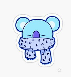 'BTS New Logo - Black' Sticker by kpopbuzzer Stickers Kawaii, Pop Stickers, Tumblr Stickers, Printable Stickers, Bts Drawings, Kawaii Drawings, Korean Stickers, Kpop Diy, Bts Chibi
