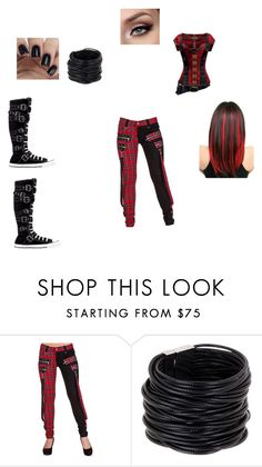 """""""Rosalie"""" by aimee-st-martin ❤ liked on Polyvore featuring Banned, Saachi and Converse"""