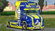 СКАЧАТЬ Scania T Longline Michelin Skin and Wheels v 1.0  для Euro Truck Simulator 2 скин для Euro Truck Simulator 2