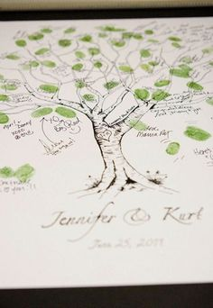 Really cute guestbook idea ______ Guestbook Fingerprint Tree 100 Guests by jenniferjdesigns on Etsy, but you could totally wake one yourself I bet! Tree Wedding, Wedding Guest Book, Our Wedding, Crazy Wedding, Wedding Tips, Wedding Photos, Thumbprint Tree, Fingerprint Tree, Fingerprint Wedding