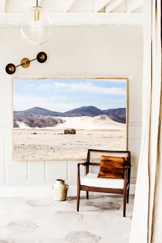 Namibia Hut in Landscape Photographic Print | Extra Large Size | © Kara Rosenlund