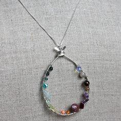 Teardrop Necklace from @amycornwell