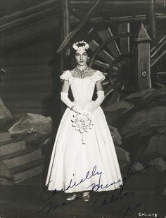 "AS AMINA IN BELLINI'S LA SONNAMBULA, SIGNED (""CORDIALLY MARIA MENEGHINI CALLAS, 1958"")"