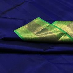 TH-KS4800030- Thamboori handwoven pure kanjivaram silk-deep blue parrot green beauty
