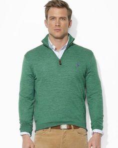 Ralph Lauren Polo Merino Wool Halfzip Sweater