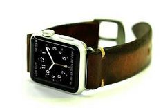 Hand stained Apple watch band strap from Orbino, in genuine calf!  Wonderful!