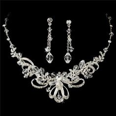 prom necklaces | wedding bridal prom necklace earrings jewelry set