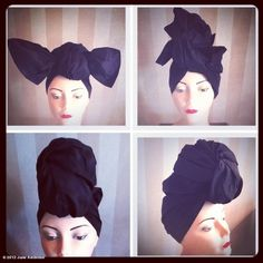 Rainy and damp in NYC = turban! June, thanks for the instructions! @June Ambrose
