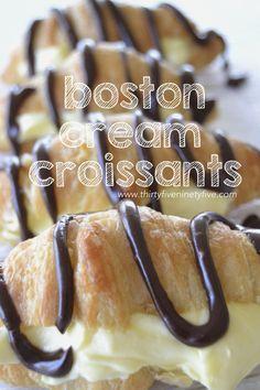 Boston Cream Croissants
