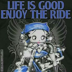 Motorcycle Girl Quotes Friends Ideas For 2019 Betty Boop Tattoos, Harley Davidson, Blue Motorcycle, Motorbike Girl, Black Betty Boop, Biker Quotes, Motorcycle Quotes, Yorky, Betty Boop Pictures