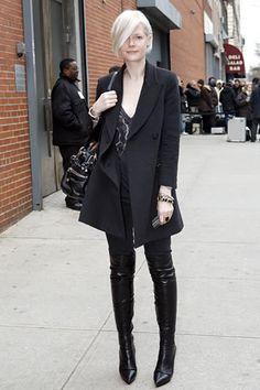 Kate... s'up girl? rocking a killer blackout (as always) in NYC. #KateLanphear