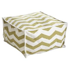 Wisteria - Furniture - Shop by Category - Poufs & Stools -  Chevron Pouf - $179.00