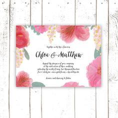 Wedding+Invitation+Pink+and+Red+Script+by+MooseberryPrintShop,+$140.00