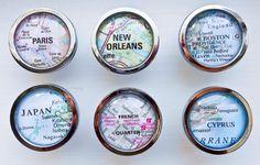 Custom Map Magnet Cabinet Knob