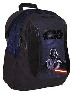 Mustanpuhuvassa Star Wars -repussa miekkailee itse Darth Vader! Edessä kaksi isoa vetoketjullista taskua, repun sisällä vetoketjutasku. Pehmustetut olkahihnat, selkämys ja pohja. Materiaali: Polyesteri. Mitat: 43 x 30 x 16 cm.