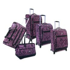 Nicole Miller NY Wild Zebra Luggage - Bed Bath & Beyond #DreamRegistrySweepstakes
