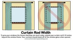 Hanging Curtain Rods Width