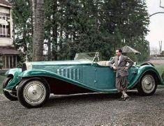 Bugatti Royale, Bugatti Veyron, Automobile, Colorized Photos, Ian Mckellen, Tug Boats, Automotive Art, France, George Clooney