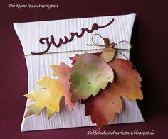 Stampin up Herbst Laub Pillow-Box Grussworte Verpackung Akzente am Waldrand